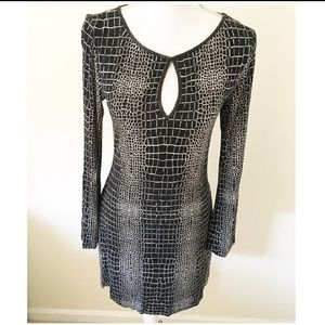 TART classy, peak-a-boo printed dress